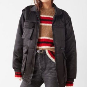 Urban Outfitters Dawson Bomber Puffer Jacket